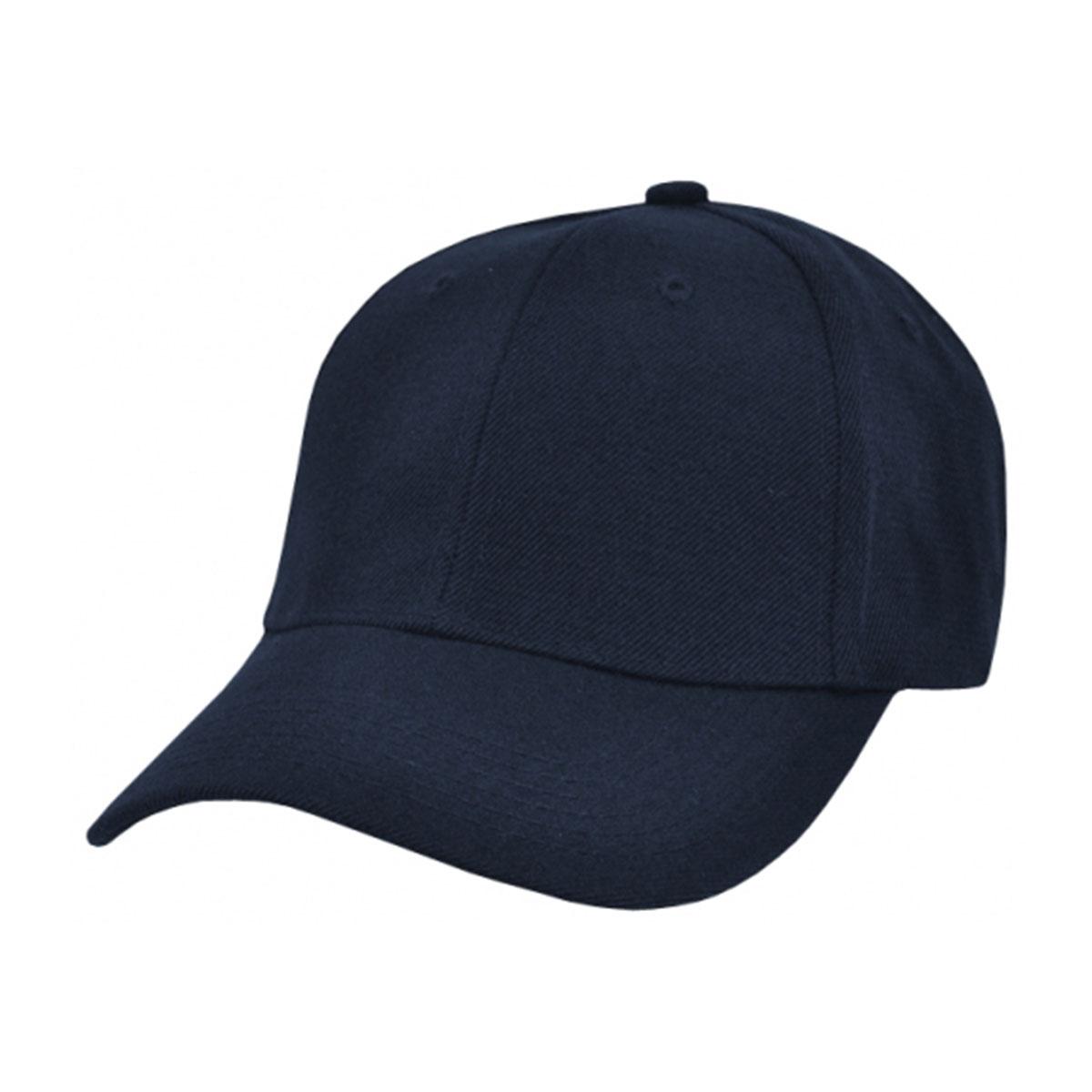 Wool Blend Cap-Navy