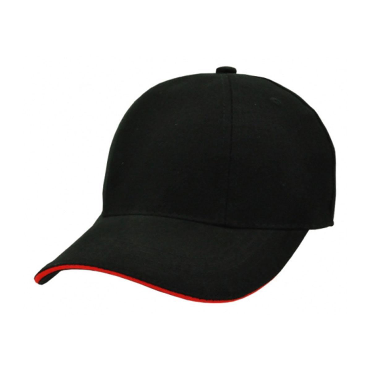 HBC Rotated Panel Cap-Black / Red
