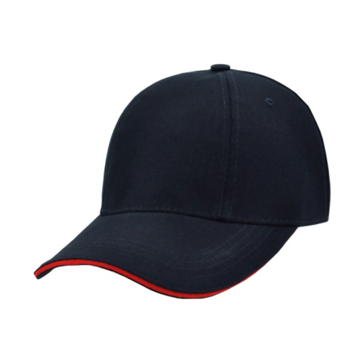 HBC Rotated Panel Cap-Navy / Red