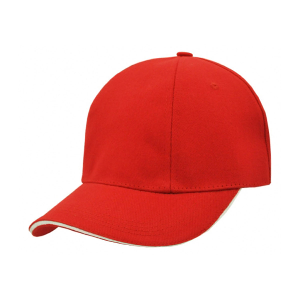 HBC Rotated Panel Cap-Red / White