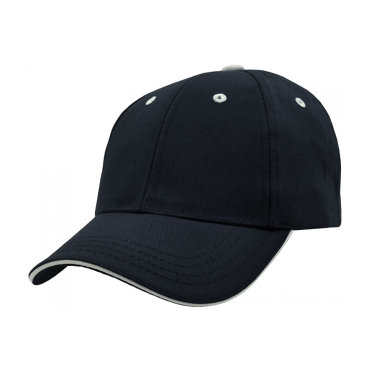 PET/Cotton Sandwich Cap-Navy / White