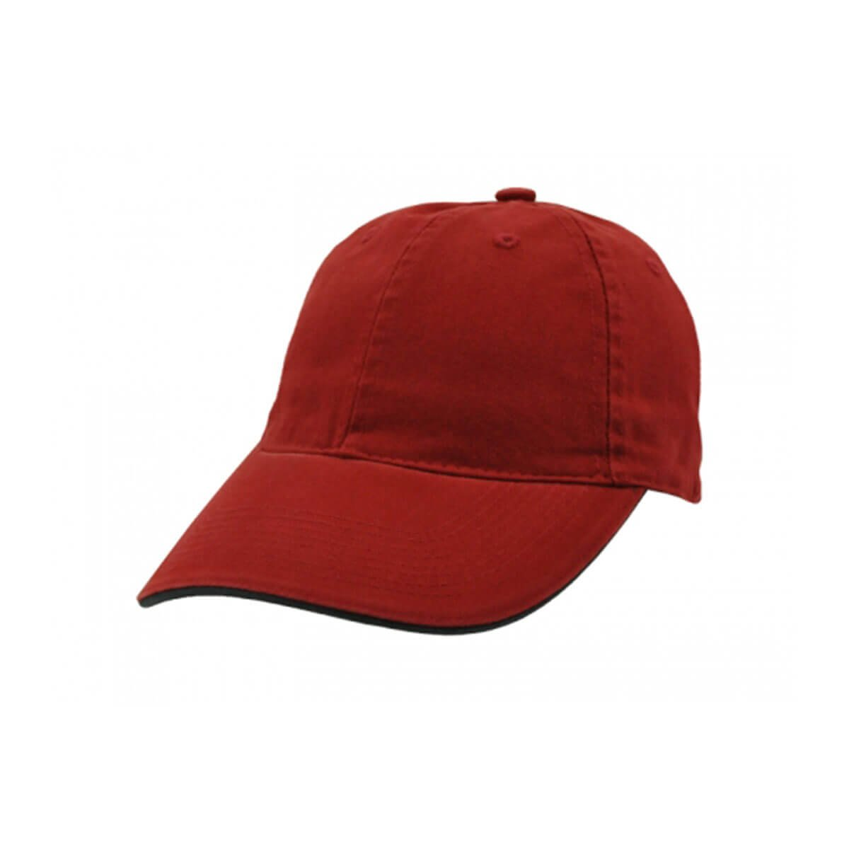 Enzyme Washed Cap with Sandwich-Red / Navy
