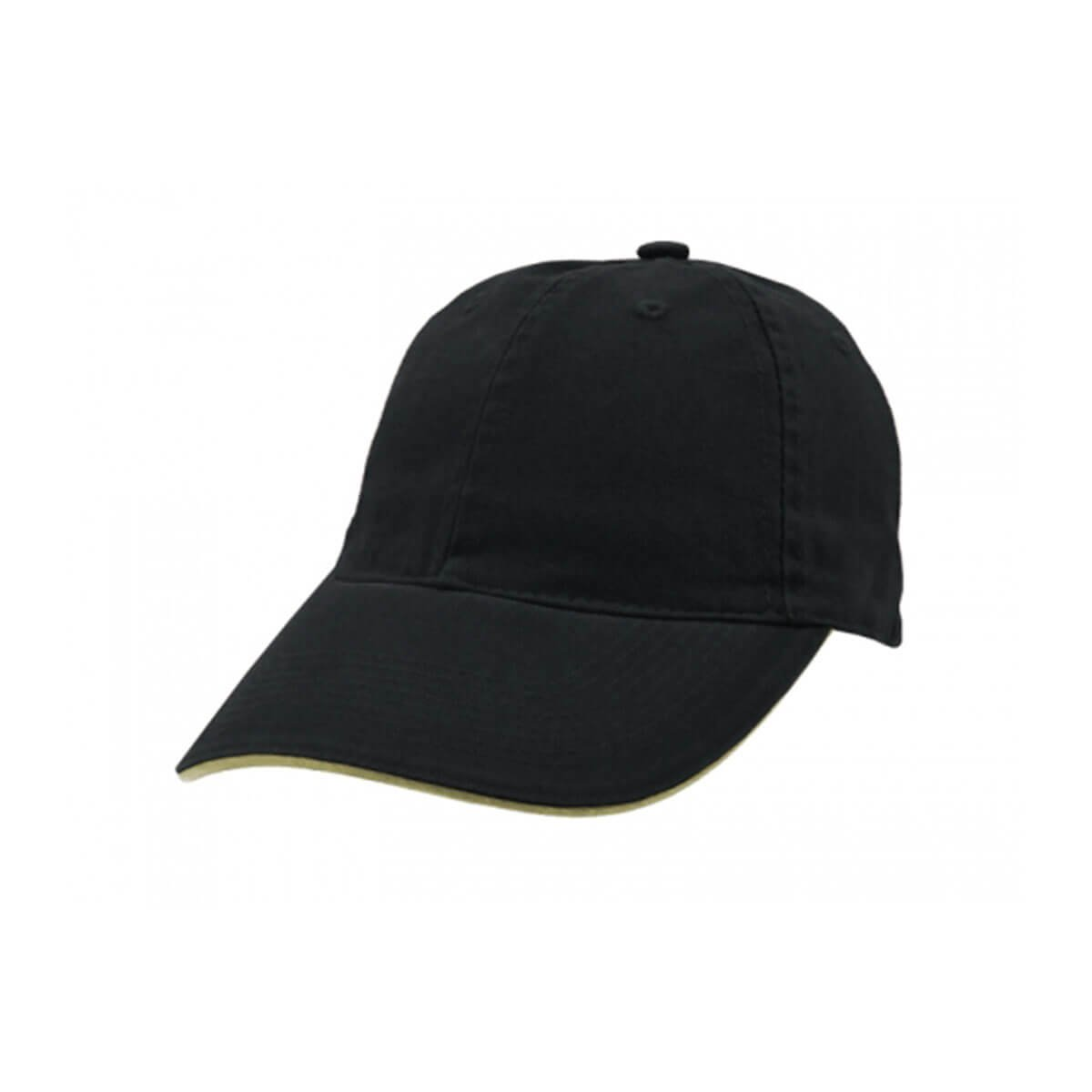 Enzyme Washed Cap with Sandwich-Navy / Khaki