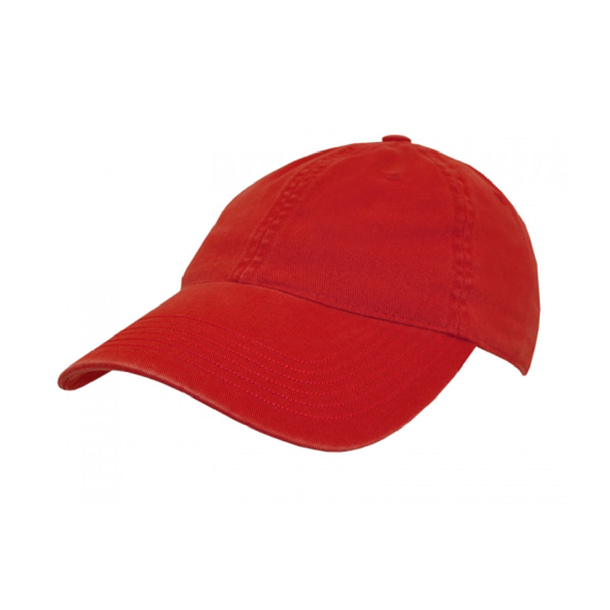 Enzyme Washed Cap-Red