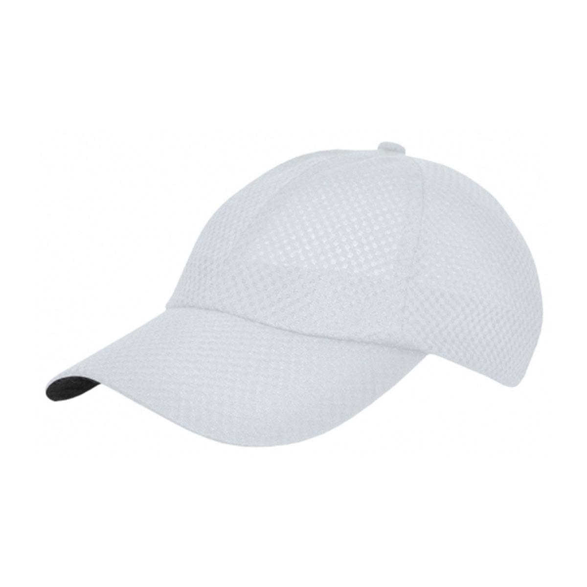 Sports Polymesh Cap-White