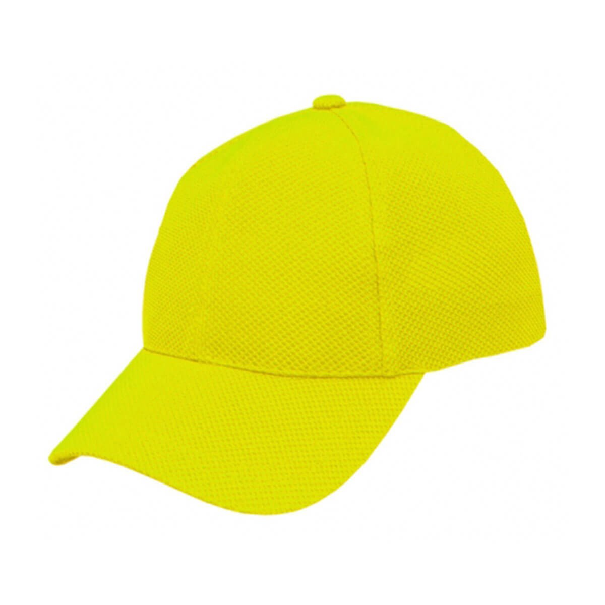 PQ Mesh Plain Sandwich Design Cap-Fluro Yellow