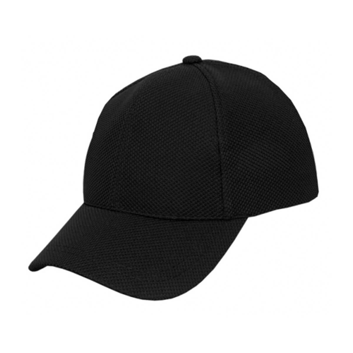 PQ Mesh Plain Sandwich Design Cap-Black