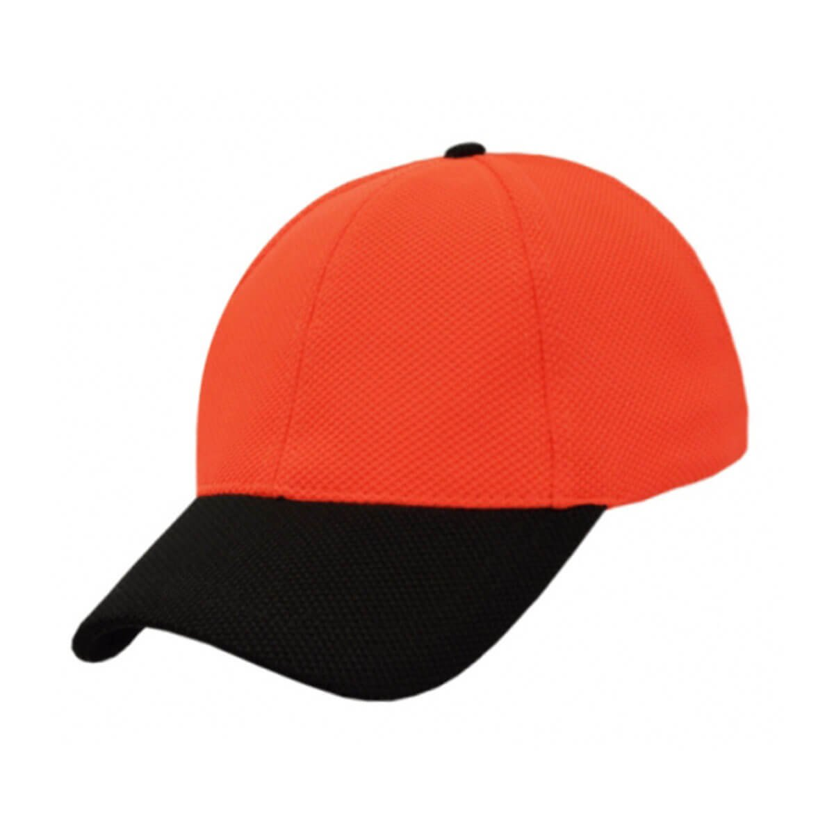 PQ Mesh Plain Sandwich Design Cap-Fluro Orange / Black