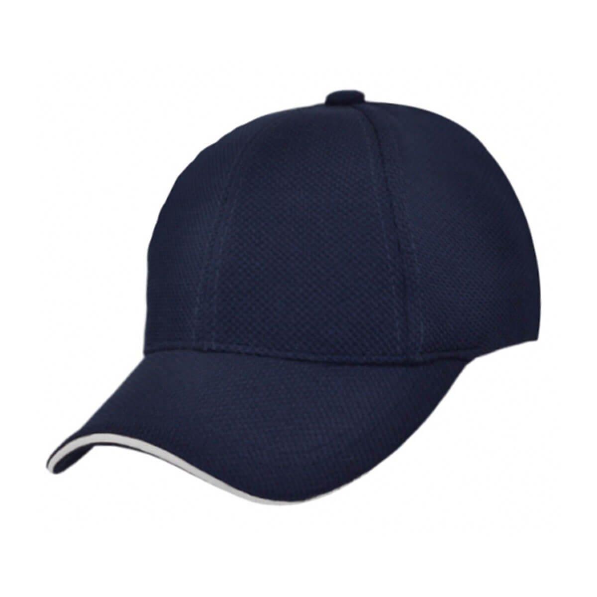 PQ Mesh Plain Sandwich Design Cap-Navy / White