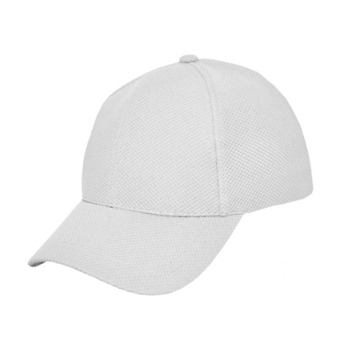 PQ Mesh Plain Sandwich Design Cap-White
