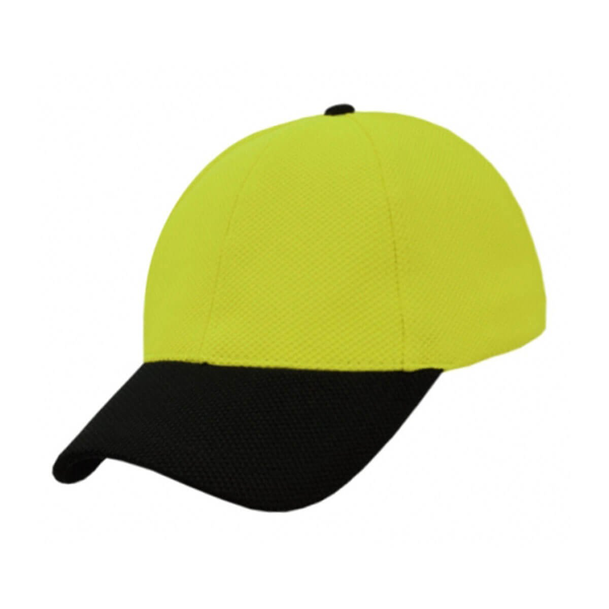 PQ Mesh Plain Sandwich Design Cap-Fluro Yellow / Black
