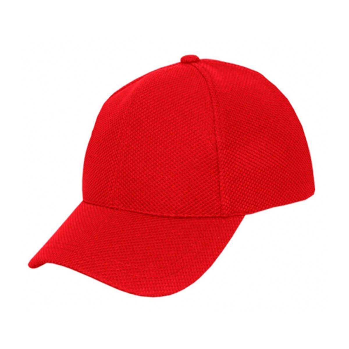 PQ Mesh Plain Sandwich Design Cap-Red