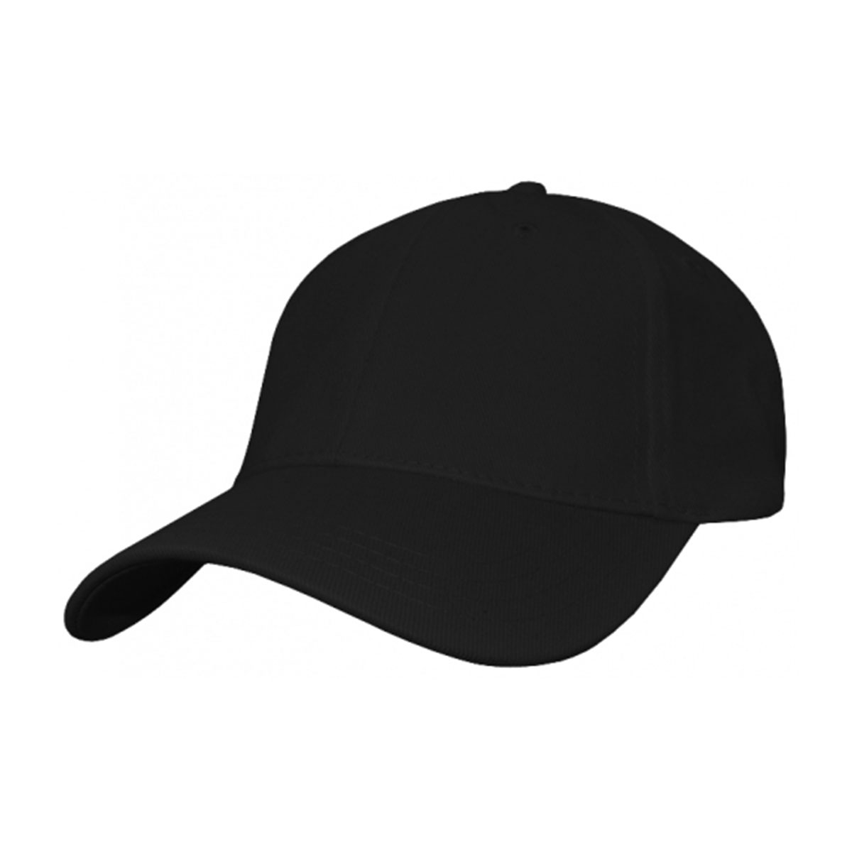 Heavy Cotton Spandex Fitted Cap-Black