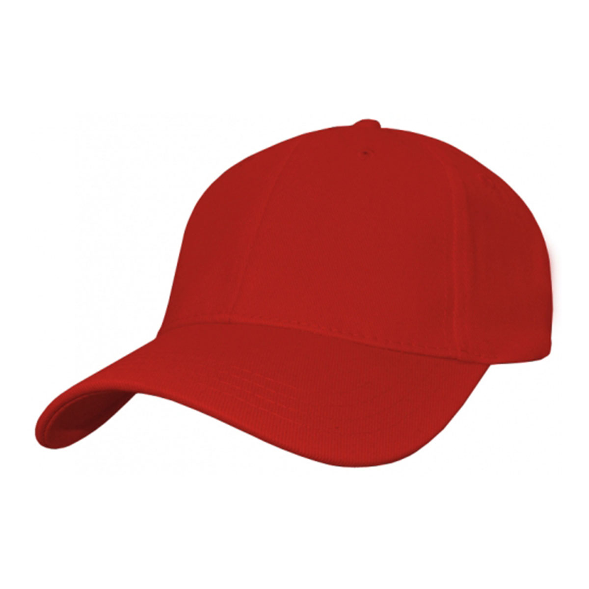 Heavy Cotton Spandex Fitted Cap-Red