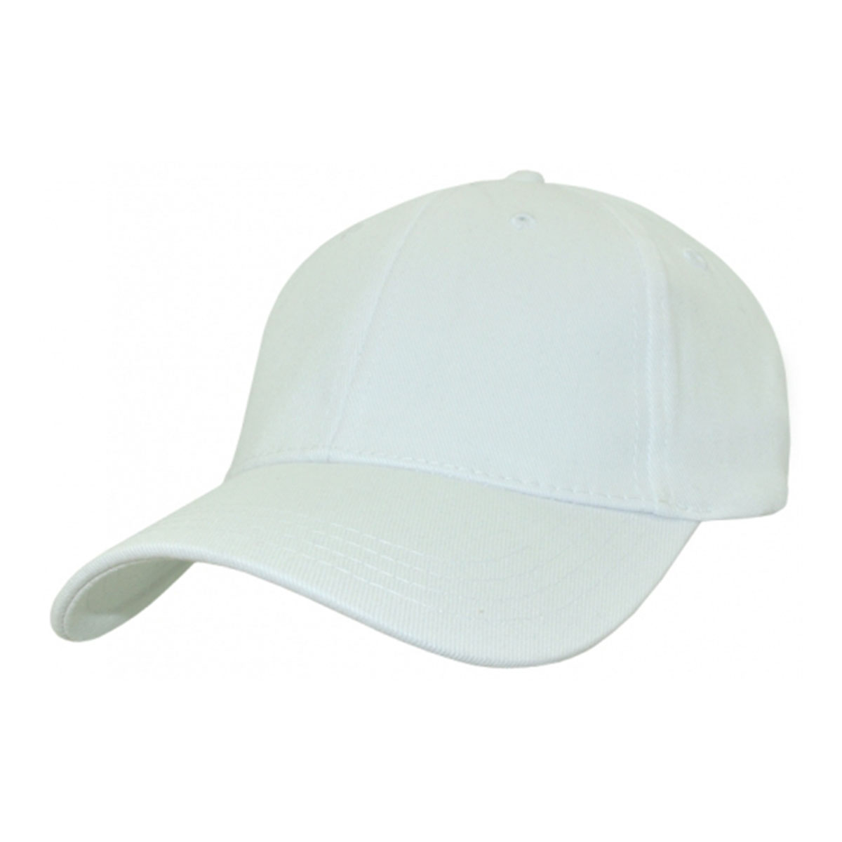 Heavy Cotton Spandex Fitted Cap-White