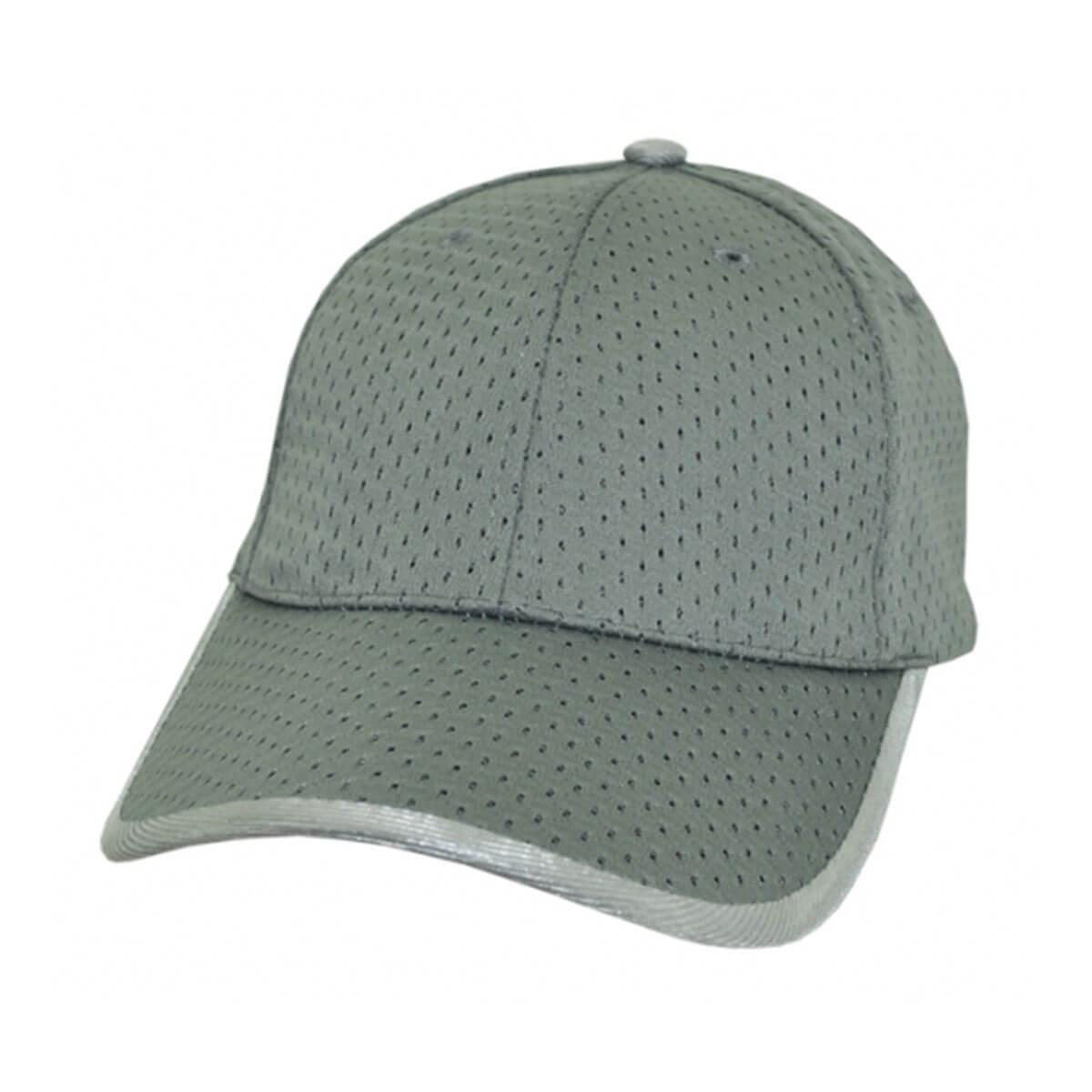 Waffle Mesh Cap-Silver