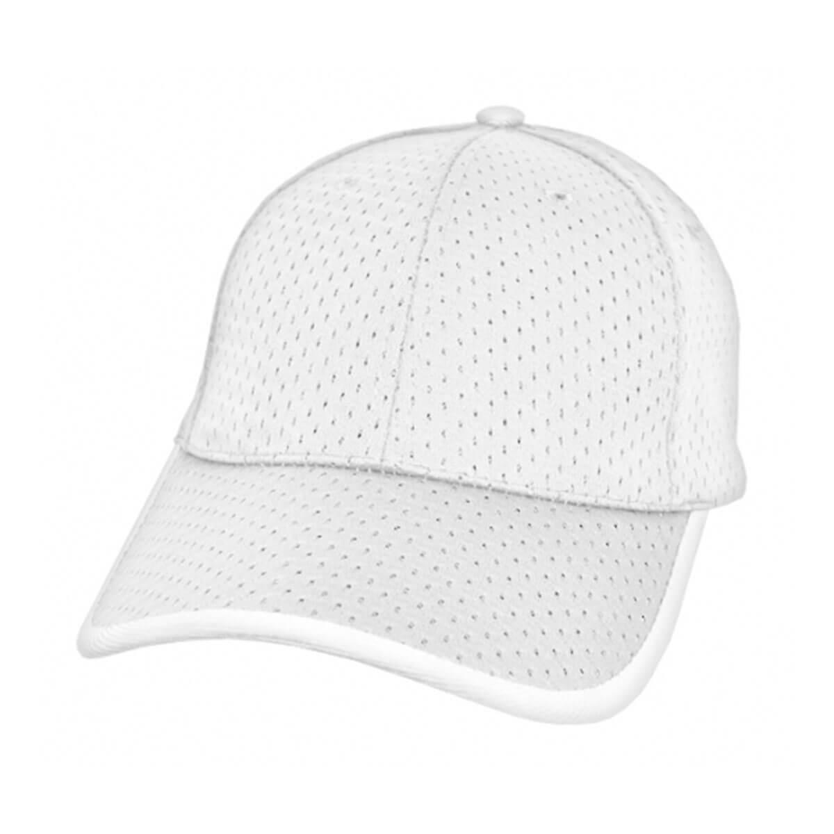Waffle Mesh Cap-White