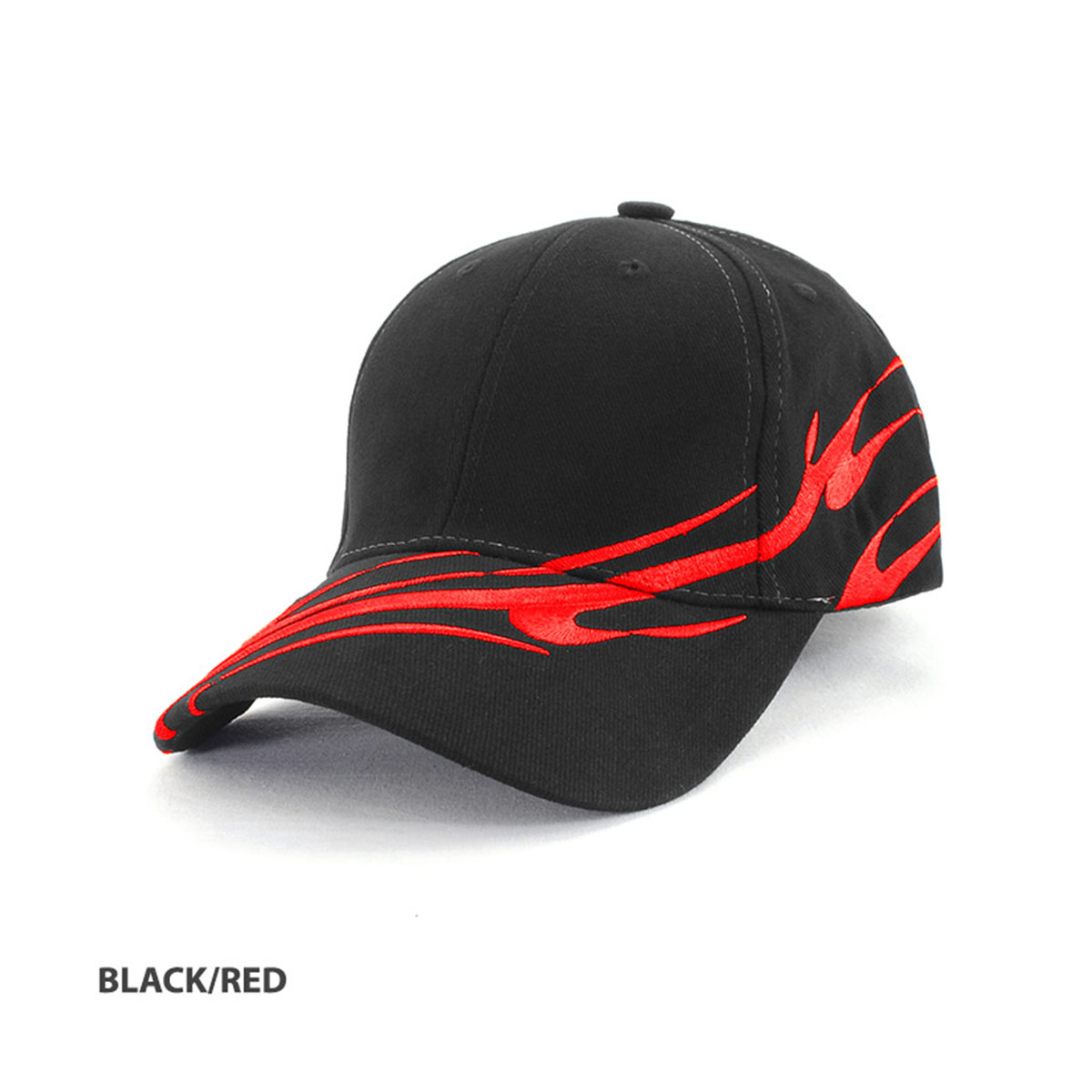 Wave Cap-Black / Red