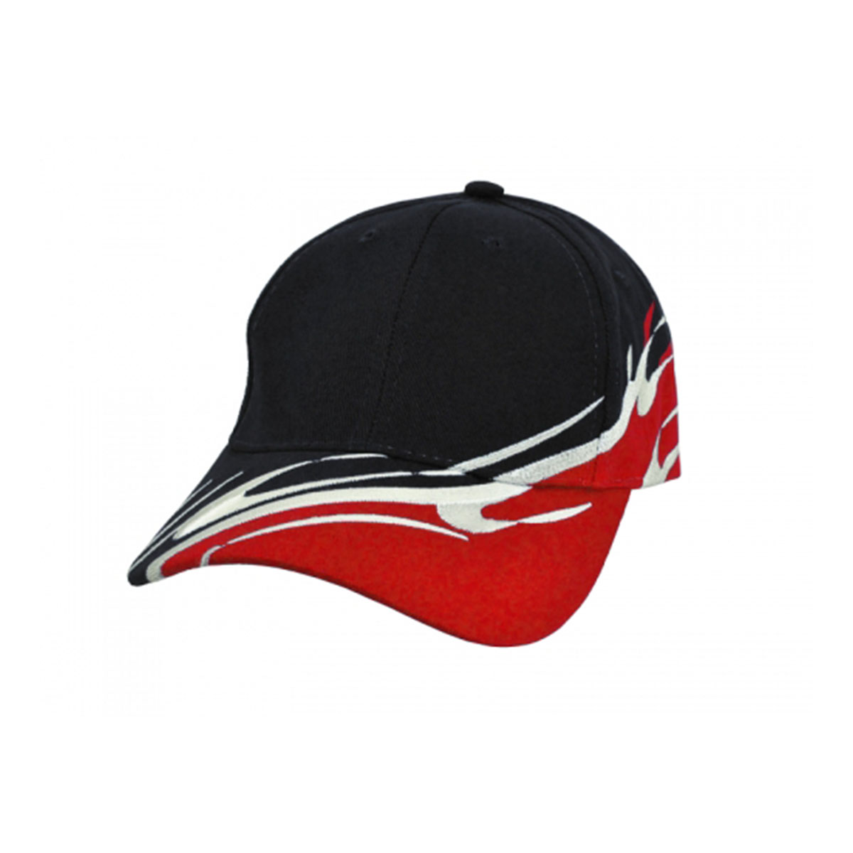 Wave Cap-Black / White / Red