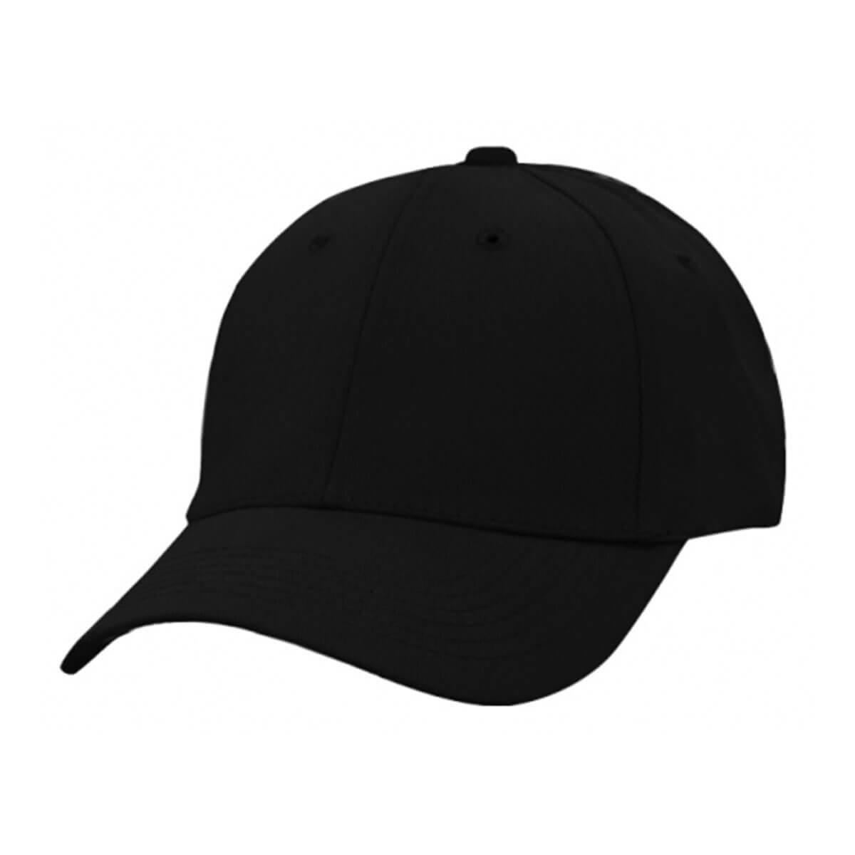 Heavy Brushed Cotton Cap-Black