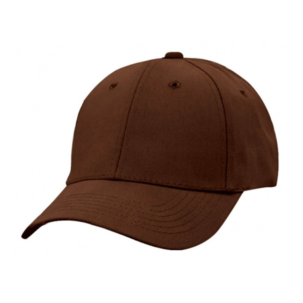 Heavy Brushed Cotton Cap-Brown