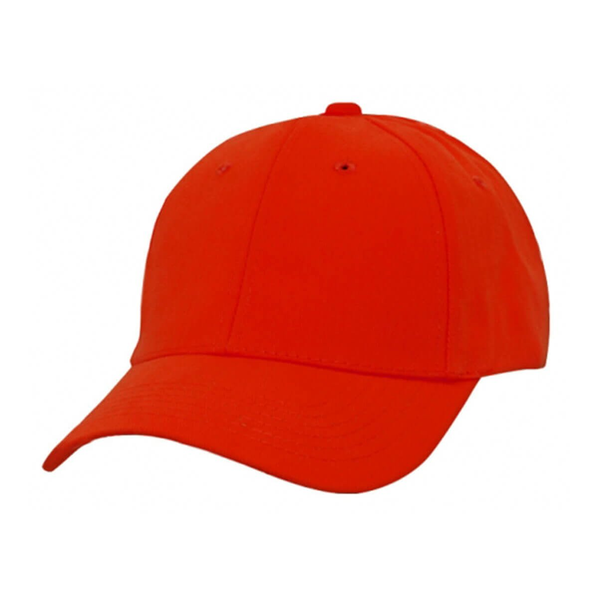 Heavy Brushed Cotton Cap-Red