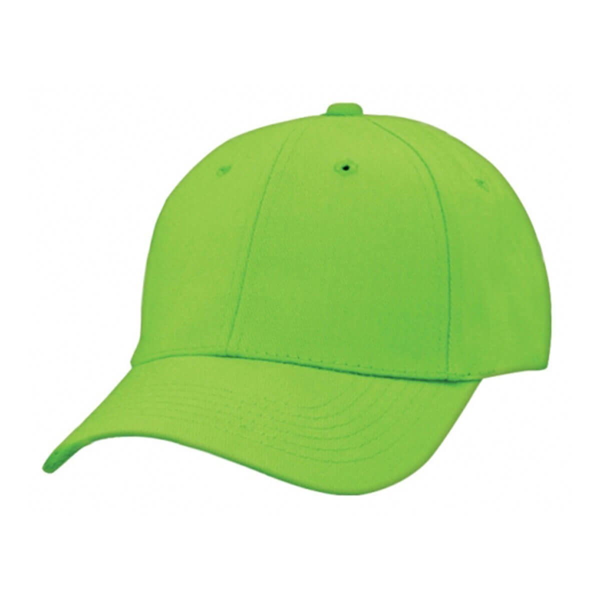 Heavy Brushed Cotton Cap-Lime