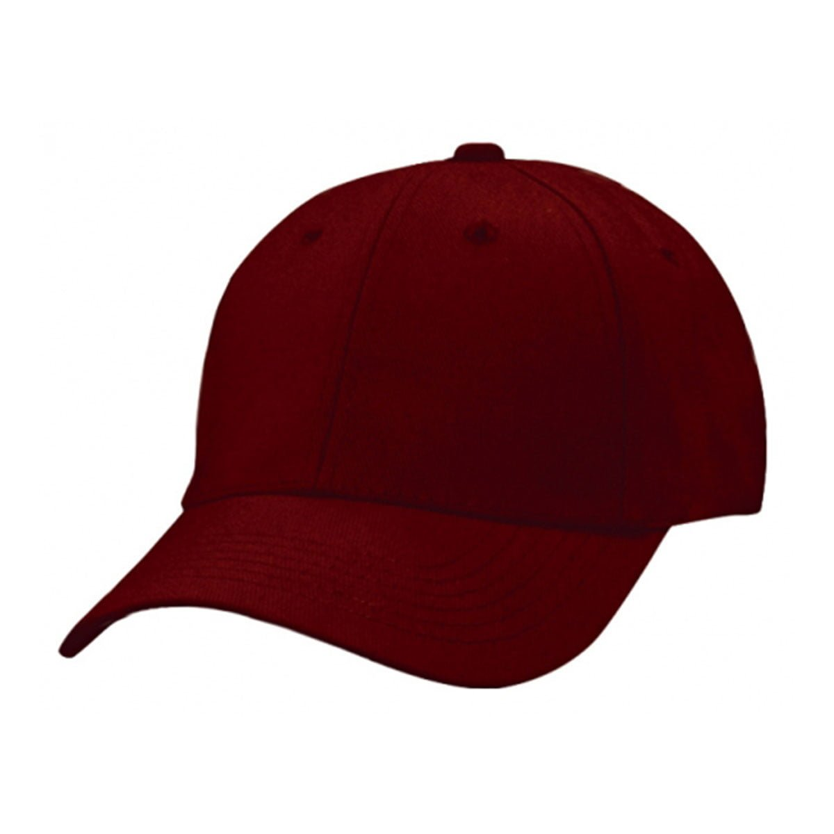 Heavy Brushed Cotton Cap-Maroon