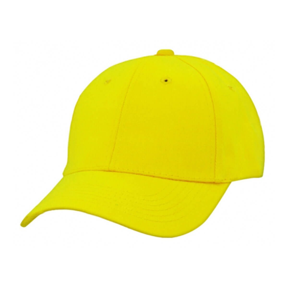 Heavy Brushed Cotton Cap-Yellow