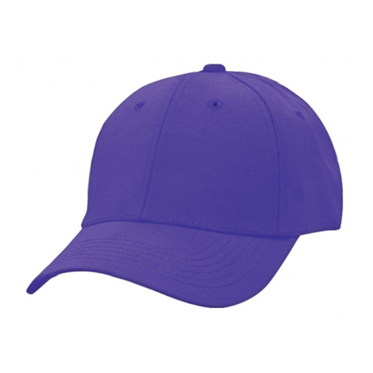 Heavy Brushed Cotton Cap-Purple