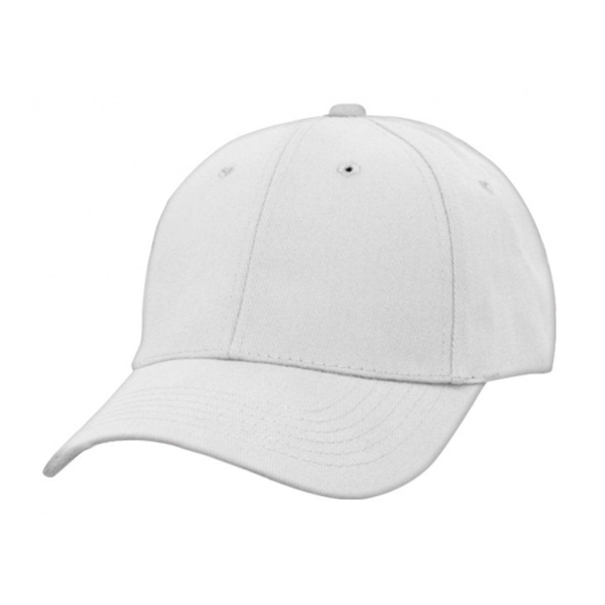 Heavy Brushed Cotton Cap-White