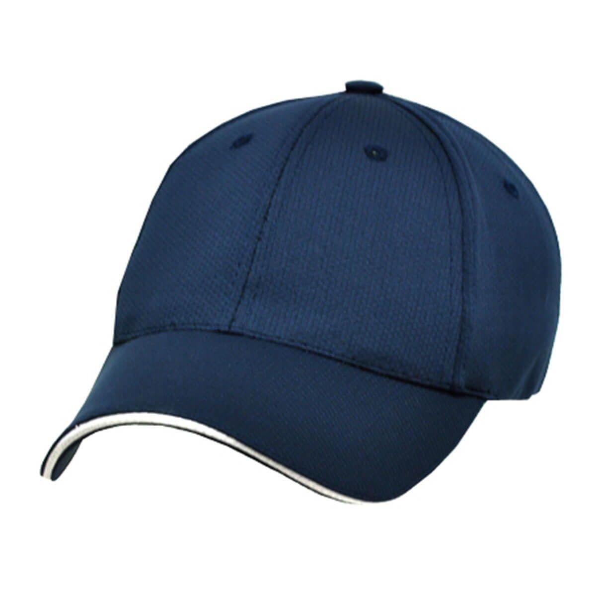 100% RPET Cap-Navy / White