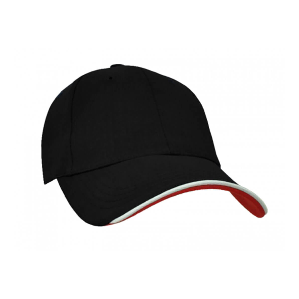 Navigator Cap-Black / White / Red