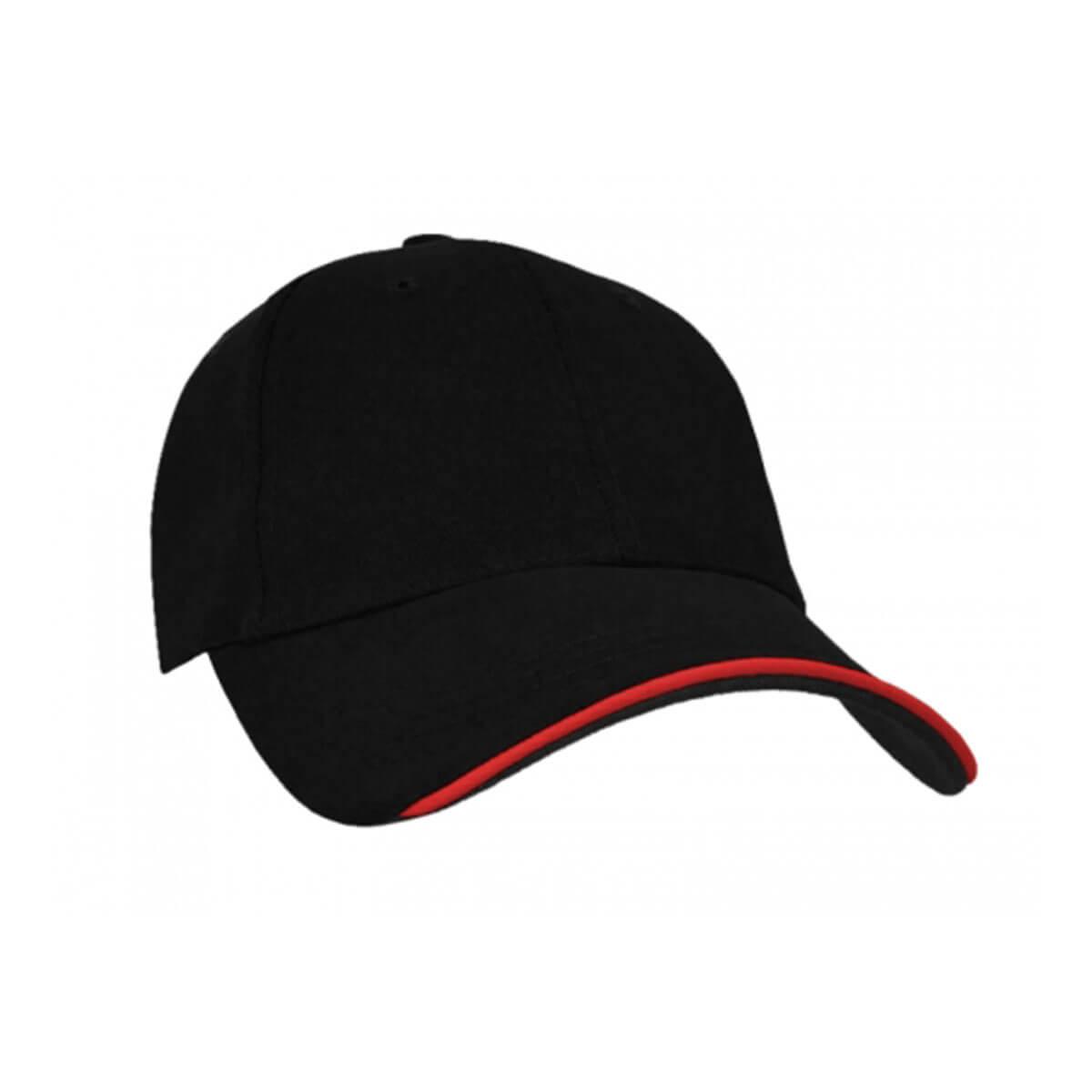 Navigator Cap-Black / Red / Black