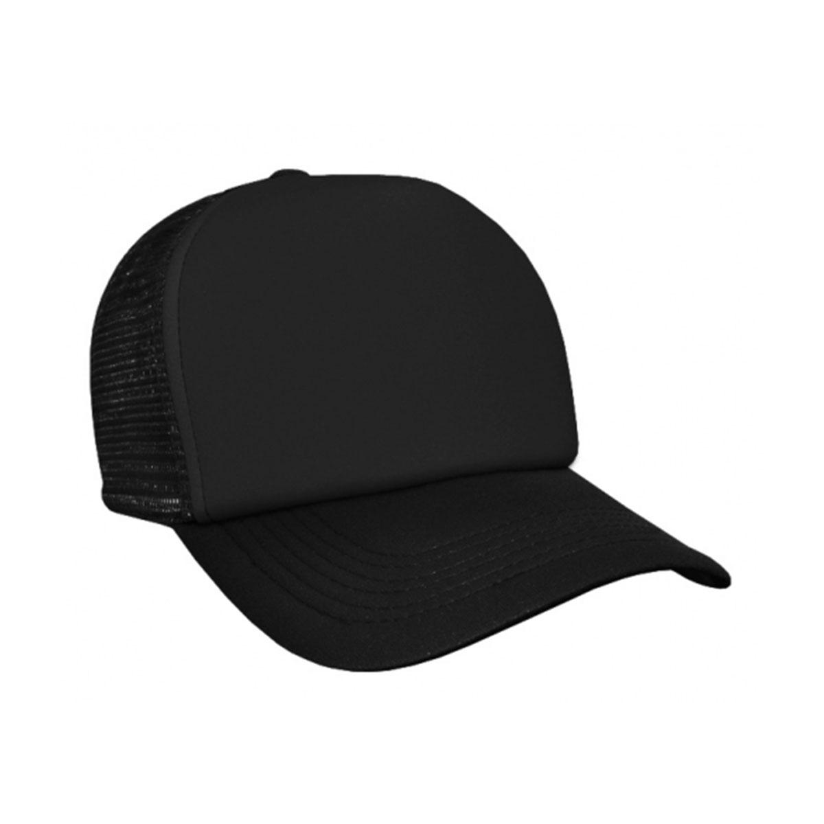 Trucker Mesh Cap-Black