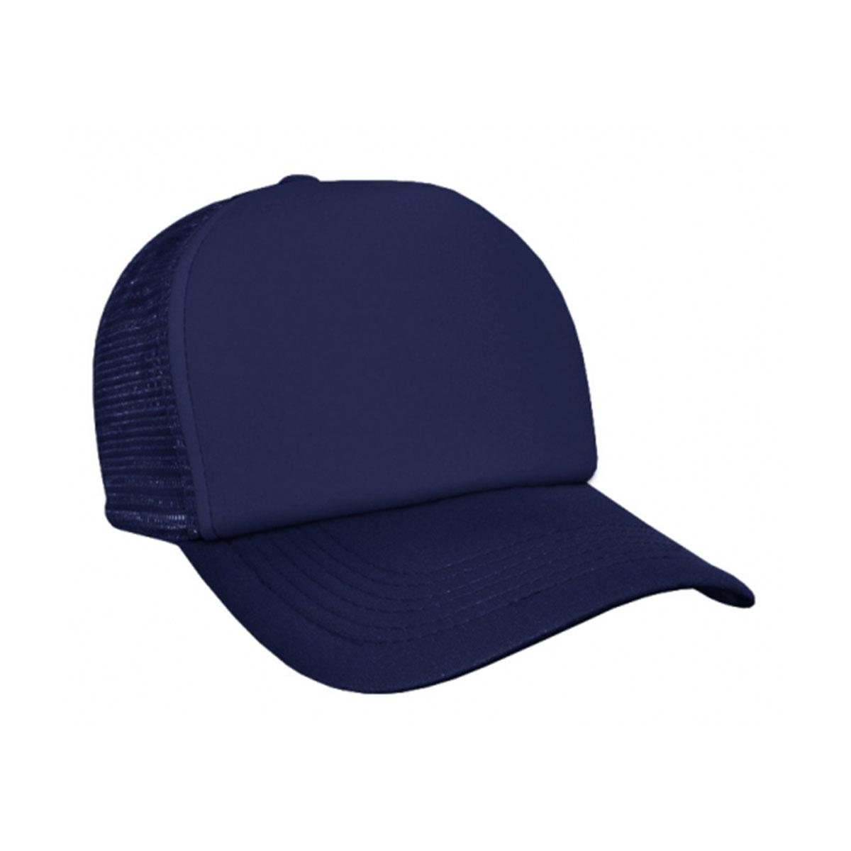 Trucker Mesh Cap-Navy