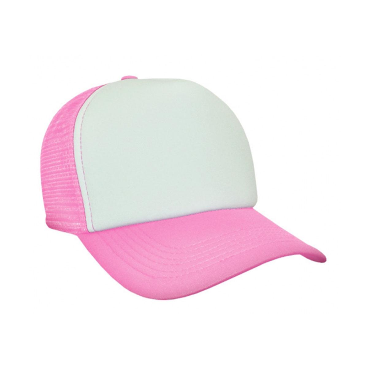 Trucker Mesh Cap-White / Pink
