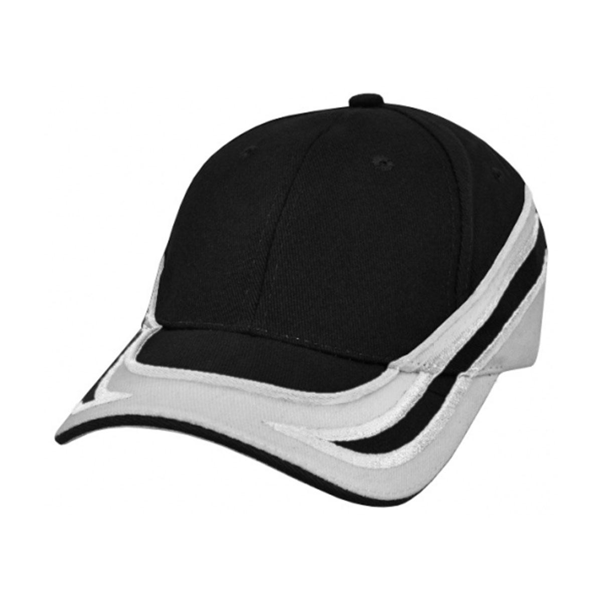 Emporer Cap-Black / White