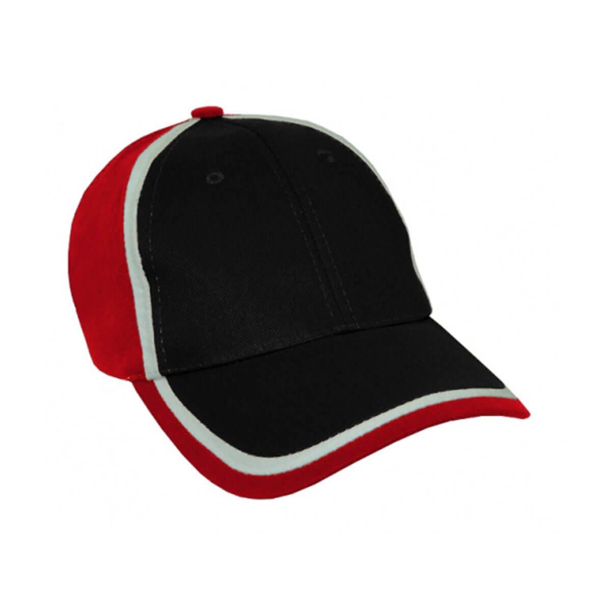 HBC Trim Design Cap-Black / White / Red