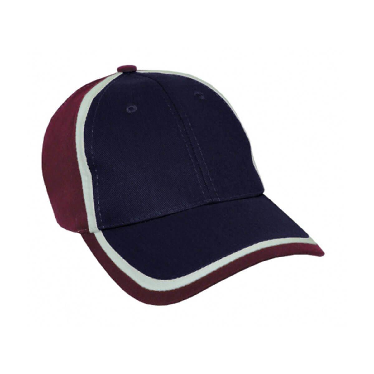 HBC Trim Design Cap-Navy / White / Maroon