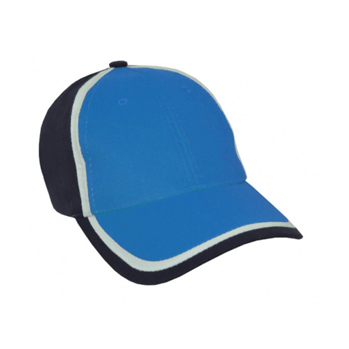 HBC Trim Design Cap-Aqua / White / Navy