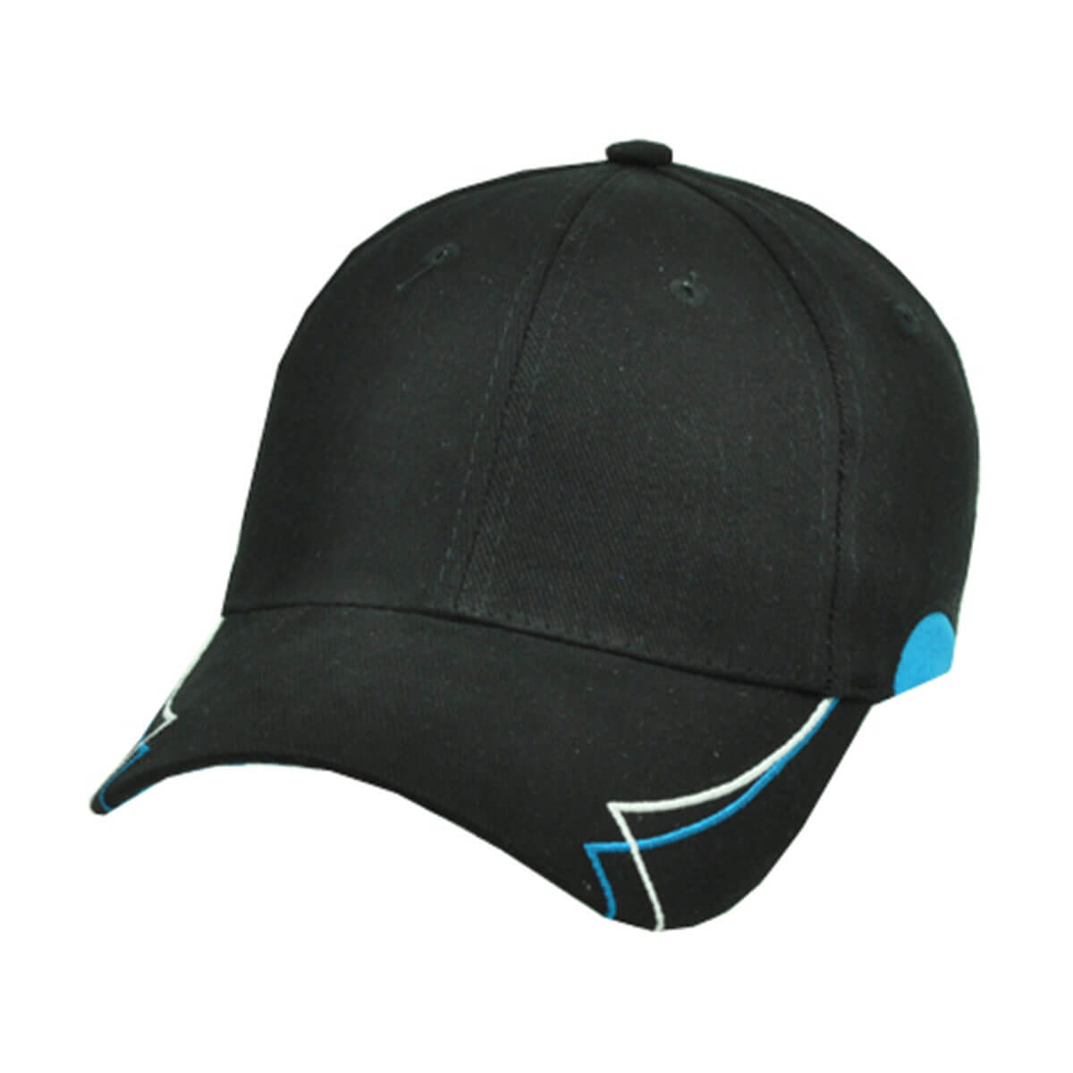 Circuit Cap-Black / White / Aqua