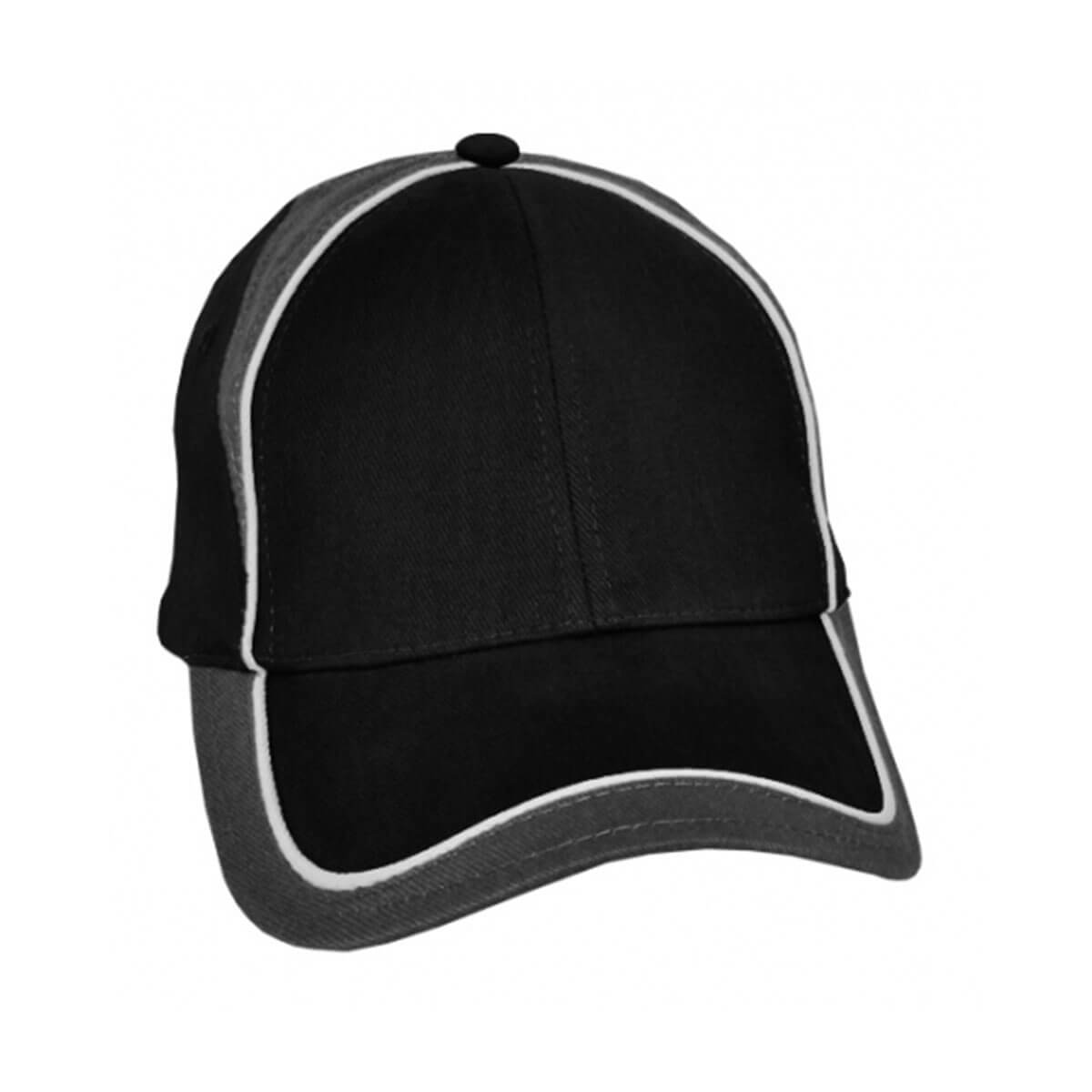 Wickham Cap-Black / White / Charcoal