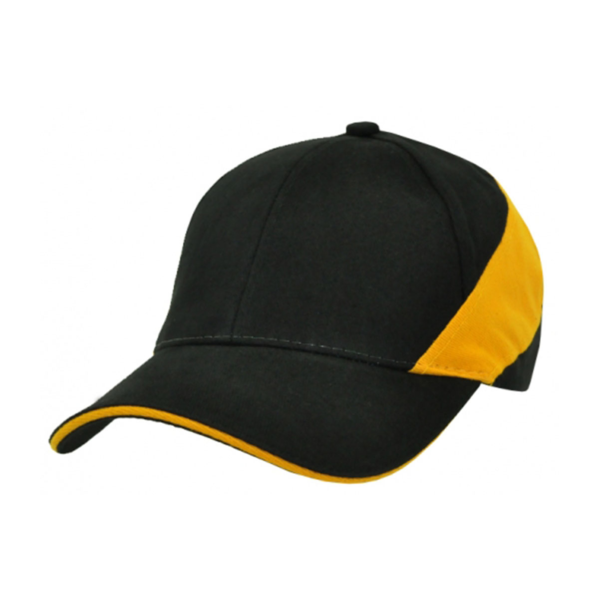HBC Wrap Around Cap-Black / Gold