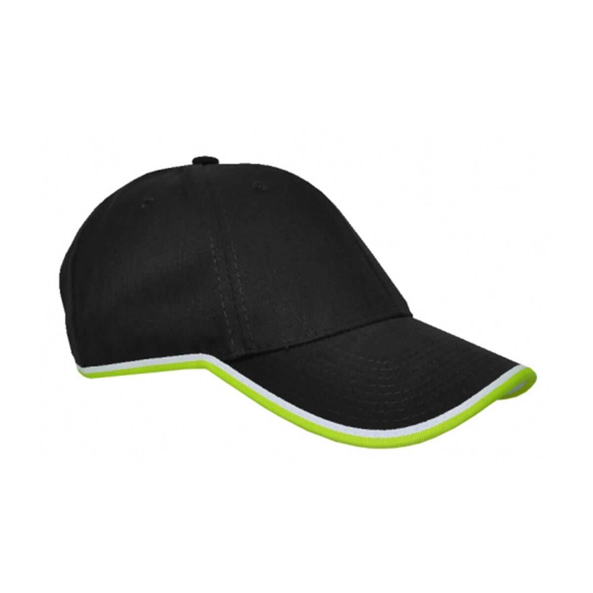 Michigan Cap-Black / White / Lime