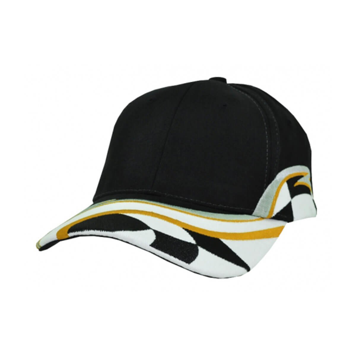 Raceway Cap-Black / Grey / Orange