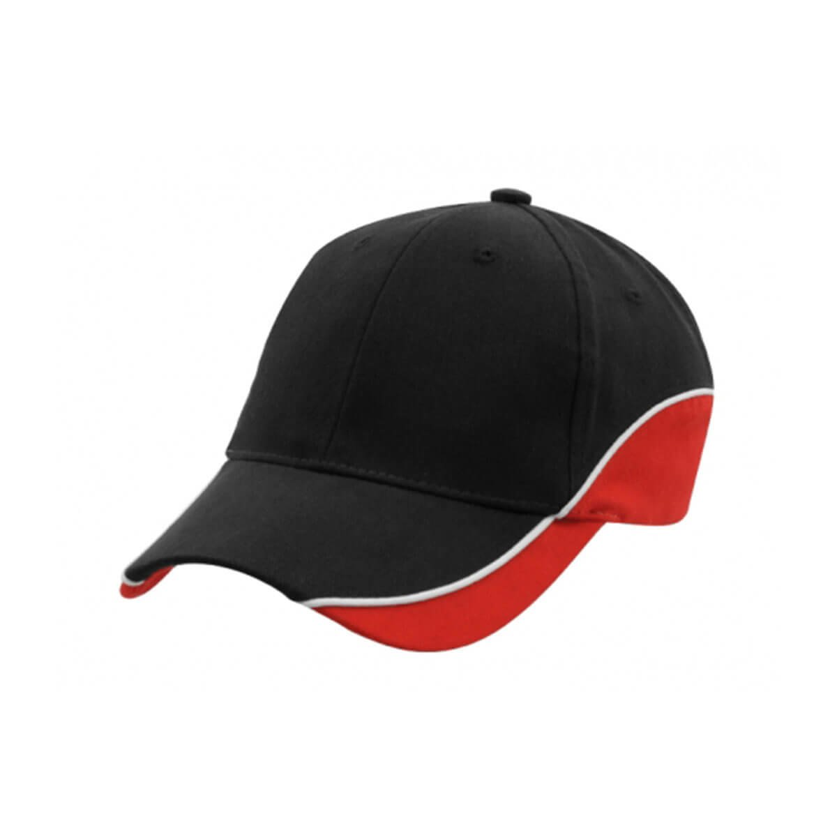 Adventure Cap-Black / White / Red