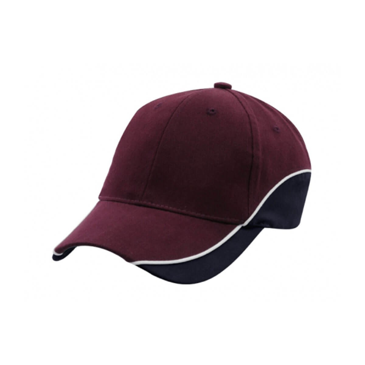 Adventure Cap-Maroon / White / Navy
