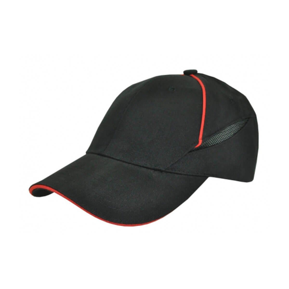 Hybrid Cap-Black / Red