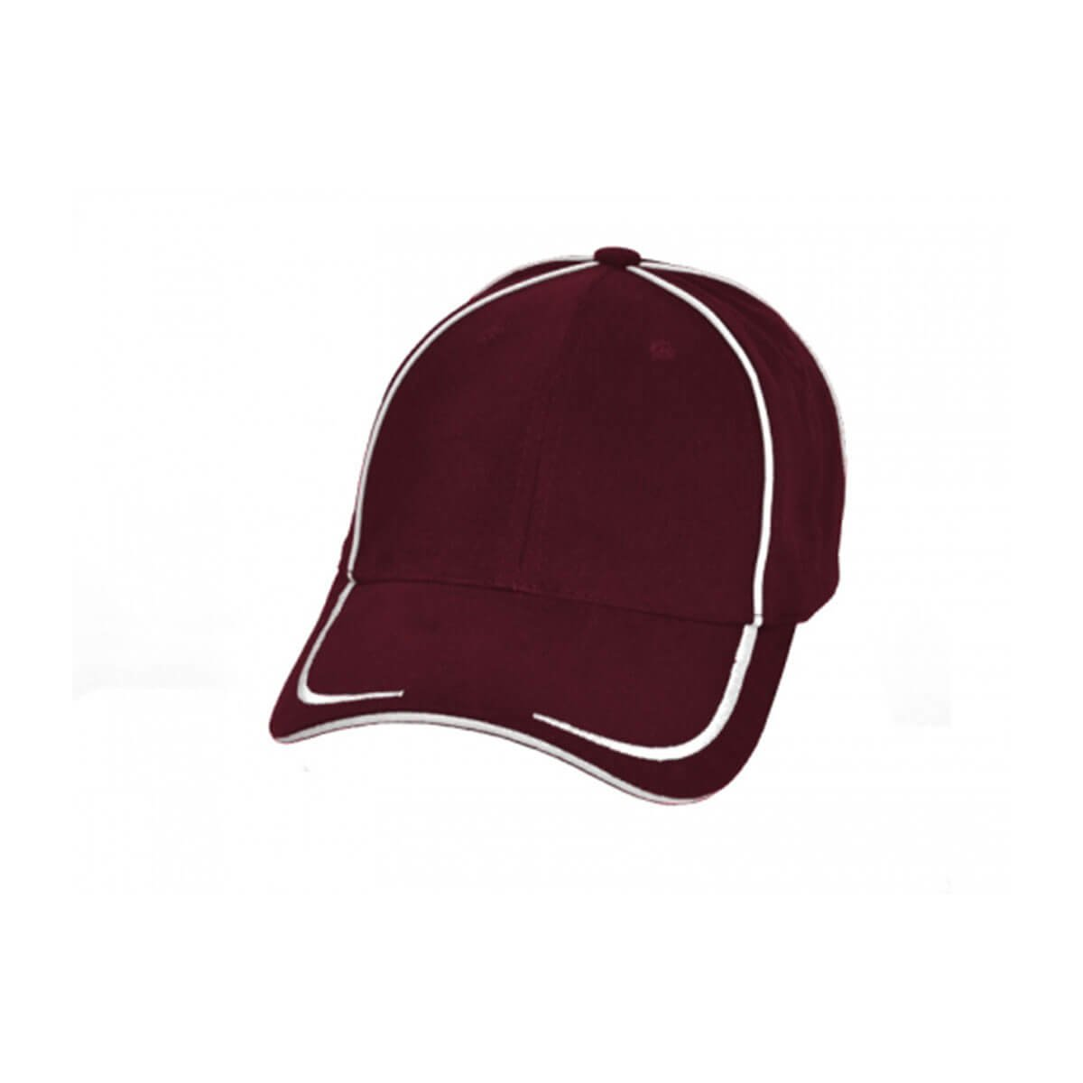 Collier Cap-Maroon / White